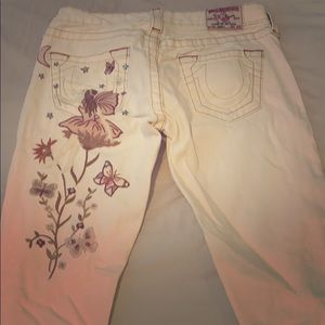 True Religion Jeans with print on left bum pocket